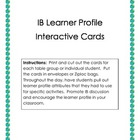 Learner Profile Interactive Cards (IB)