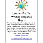 Learner Profile Response Sheets