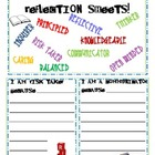 Learner Profile Trait Reflection Slips (IB: International