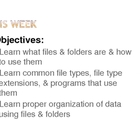 Learning About Computer Files &amp; Folders