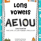 Learning About Long Vowels {read, write, cut, paste, & sort}