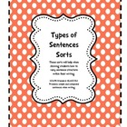 Learning About the Types of Sentences Sorts 1-4