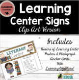 Learning Center Signs: Informative & Decorative