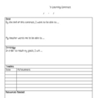 Learning Contract Template