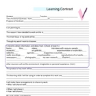 Learning Contract for Assignments or Projects