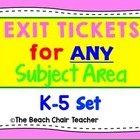 Learning Goal Scale or Rubric 'Exit Ticket' Marzano aligne
