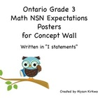 Learning Goals - Ontario Grade 3 Math NSN