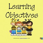 Learning Objectives Posters - Buzzy Friends (Bee) Theme