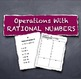 Learning Stations Centers Operations Rational Numbers Algebra