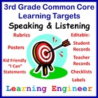 Learning Targets For Common Core State Standards Third Gra