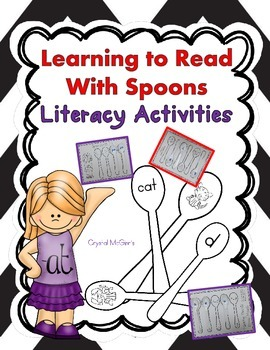 Learning To Read With Spoons! Literacy Center or Small Gro