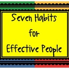 Learning and Living the Seven Habits - Posters