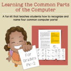 Learning the Common Parts of a Computer for Grades PK-2