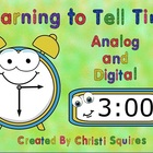Learning to Tell Time Analog and Digital Clocks SMARTBoard