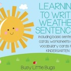 Learning to Write Weather Sentences - Vocabulary and Basic