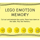 Lego Emotion Memory Freebie