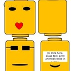 Lego Head Themed Name Tags