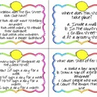 Lemonade for Sale Quiz Quiz Trade Cards Harcourt Trophies 2nd