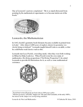 Leonardo da Vinci: Mathematics Mini Unit