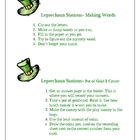 Leprechaun Learning Centers for St. Patrick's Day