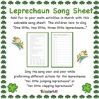 Leprechaun Song Sheet