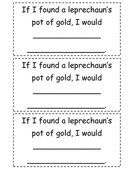 Leprechaun / St. Patrick's Day Writing Craft for Kinders