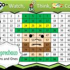 Leprechaun Tens and Ones Practice - Watch, Think, Color Game!