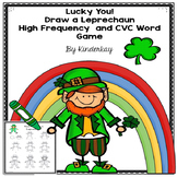 Lucky You! High Frequency and CVC Words Draw a Leprechaun Game