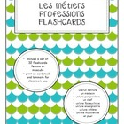 Les métiers - Professions flashcards (French)