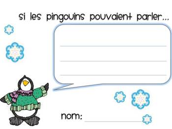 Les pingouins Mini Math and Literacy Unit
