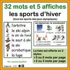 Les sports - French Vocabulary Word Wall of Sports