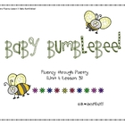 Lesson 3 Baby Bumblebee: Poetry Fluency Unit