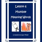 Lesson 6 Multiple Meaning Words