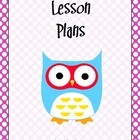 Lesson Plan Book Cover Page