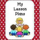 Lesson Plan Book Covers and Planning Template-Red and Whit