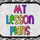 Lesson Plan Book - Zebra
