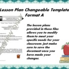 Lesson Plan Changeable Template - Format A