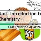 Lesson Plan: Classification of Matter - Notes, Power Point