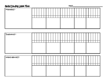 Lesson Plan Format for Guided Reading