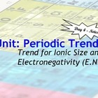 Lesson Plan: Periodic Table Trends - Ionic Size and Electr