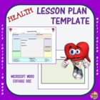 Lesson Plan Template - Health