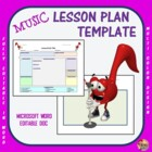 Lesson Plan Template - Music