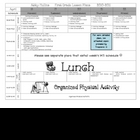 Lesson Plan Template {Pre-K &amp; Elementary}