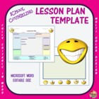 Lesson Plan Template - School Counseling