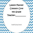 Lesson Planner Common Core for Each Week Embedded
