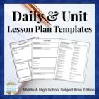 Lesson &amp; Unit Plan Template