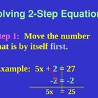 Lesson on Solving Two step linear equations- Powerpoint