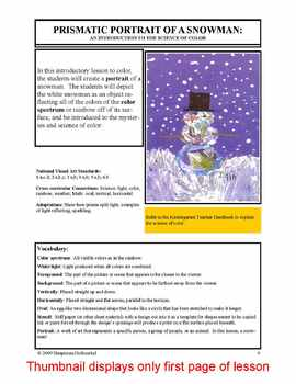 Lesson plan.  Prismatic Portrait of a Snowman:  The Scienc