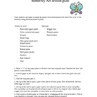 Lesson plan on Butterflies- Art