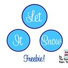 Let It Snow Bulletin Board Banner
